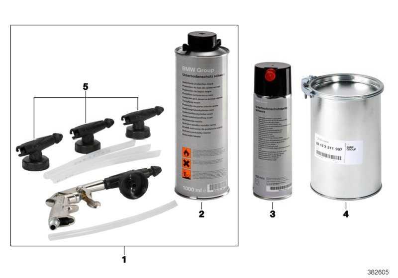 Unterbodenschutzspray schwarz 500ML  (51910427674)