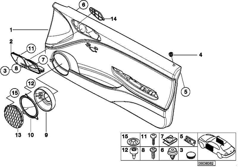 Klammer Türbrüstung  3er X5 Z4 Z8 MINI  (07149149284)