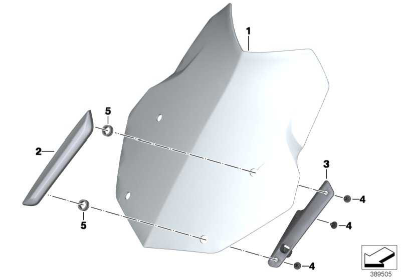 Windschild L=380MM  (46638557867)
