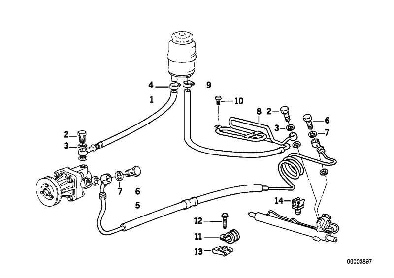 Rücklaufleitung mit Kühlschleife  3er  (32411093247)