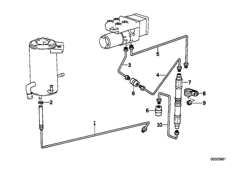 Rohrleitung M10/M10-310MM    3er 5er 6er 7er Z1  (34326755560)