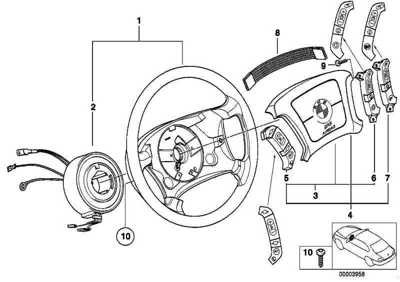 Adapterleitung Schalter Lenkrad  5er 7er  (61318375689)
