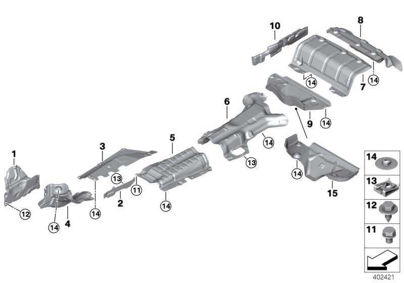 Wärmeschutz Nachschalldämpfer hinten  3er 4er  (51488059674)