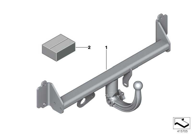 Anhängerkupplung mit abnehmb. Kugel  X3 X4  (71606874096)
