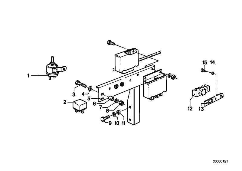 Relais Wechsler signalviolett   3er 5er 6er 7er 8er M1 Z3 Z4 Z8 MINI  (61361388911)