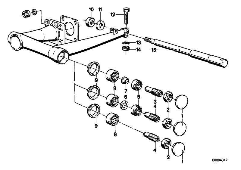 Steckachse Trommelbremse D=17MM/L=296MM R R50/5-R90S   (33411230303)