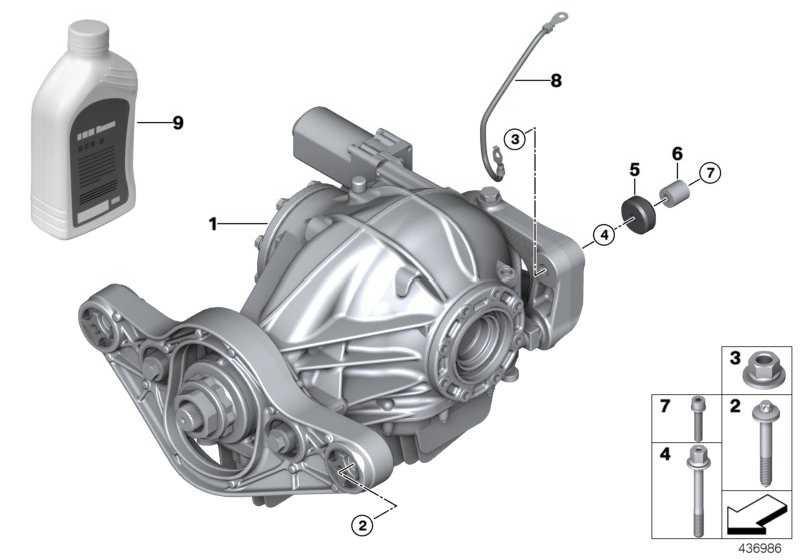 Hinterachs-Getriebeöl MSP/A 1L 3er 4er 2er  (83222365988)