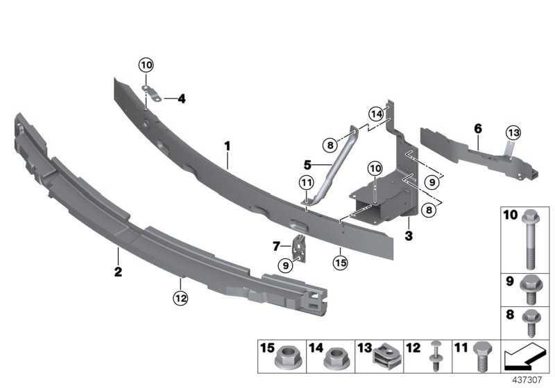 Träger Stossfänger vorn  X5 X6  (51117294477)