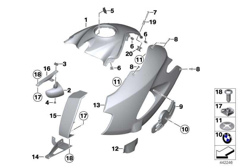 Tankabdeckung grundiert Mitte  K25  (46637689006)