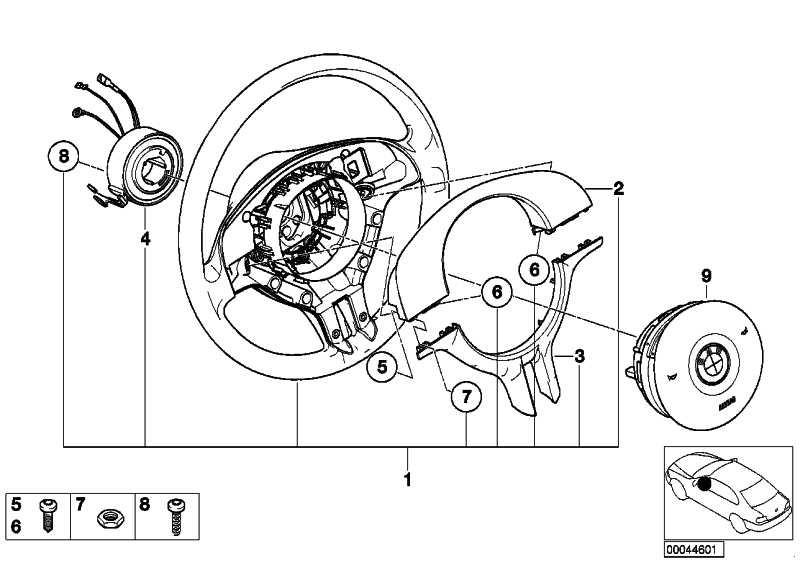 Sportlenkrad Airbag Leder SCHWARZ/SCHWARZ Z3  (32301096778)