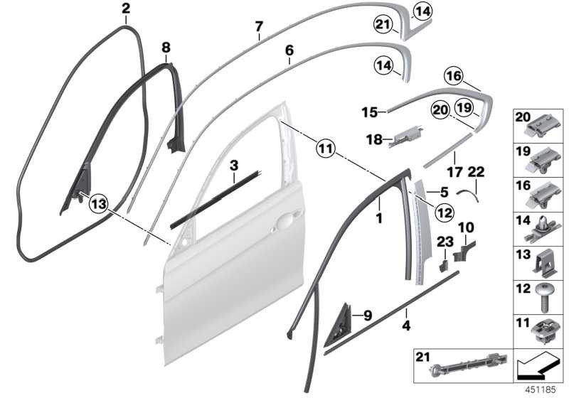 Abdichtung Fensterrahmen innen vo rechts TOP HIFI        3er  (51337323510)