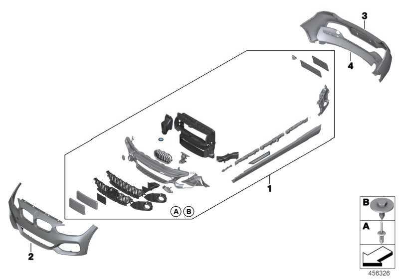 Verkleidung Stossfänger grundiert vorn M 1er  (51118064581)