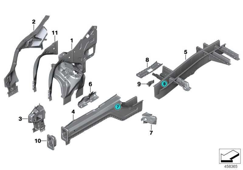 Stützträger links  X5 X6  (41117390609)