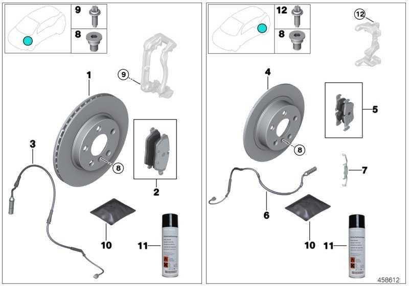Reparatursatz Bremsbeläge asbestfrei  2er  (34216859917)