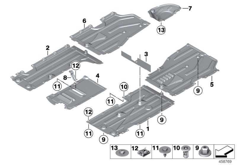 Unterbodenverkleidung hinten rechts  X3 X4  (51757213674)