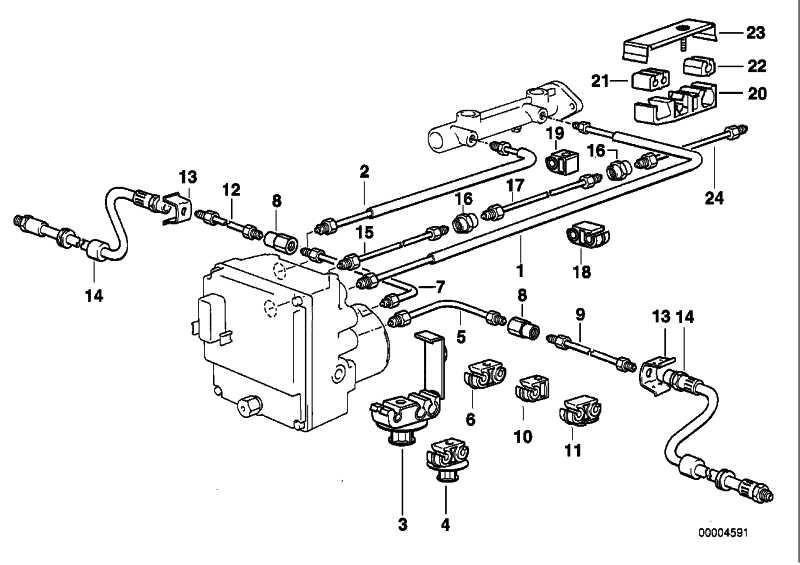 Halter Bremsleitung  5er 7er X3 X5 X6  (34321161701)