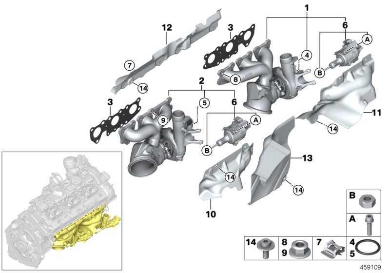 Sechskantmutter M7X1.5 3er 4er  (11657851195)