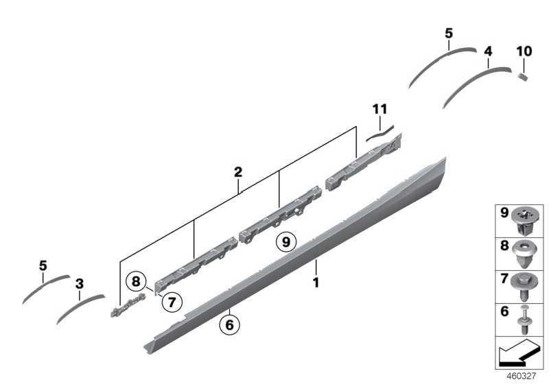 Satz Halteleisten rechts -M-             1er 2er  (51778056820)