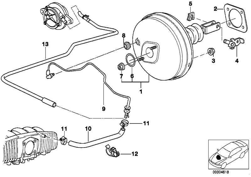 Bremskraftverstärker  5er  (34331163404)