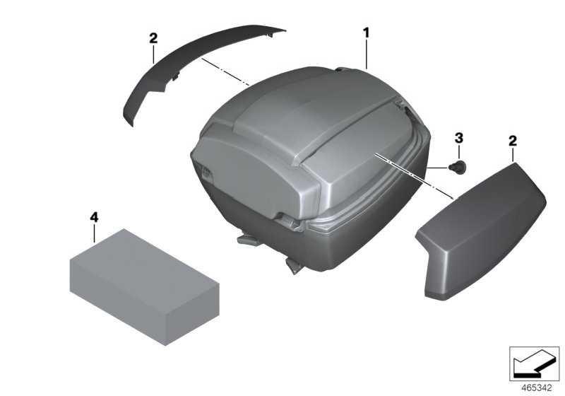 Reparatursatz Schliesszylinder Topcase   (51258546428)