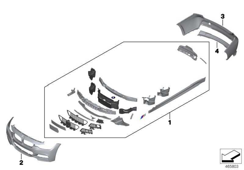 Verkleidung Stossfänger grundiert hinten M / PDC         3er  (51128056578)