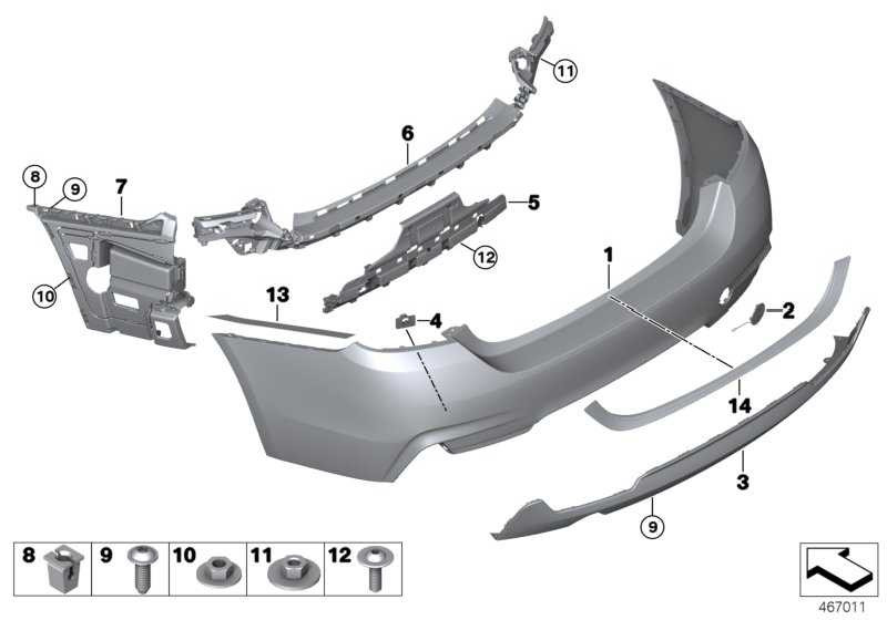 Versteifung Stossfänger hinten unten M-PAKET         4er  (51128054565)
