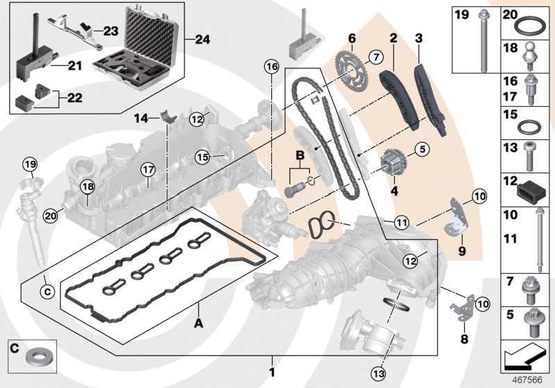 Reparatursatz offene Steuerkette oben VALUE LINE 1er 3er 5er X1 X3  (11312365578)