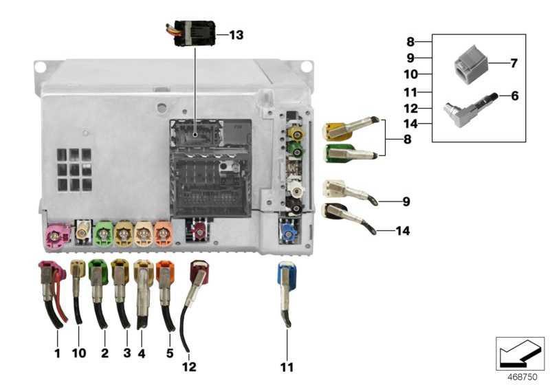 Rep.-Modul Antennenleitungen AM/ FM2  5er  (61119340097)