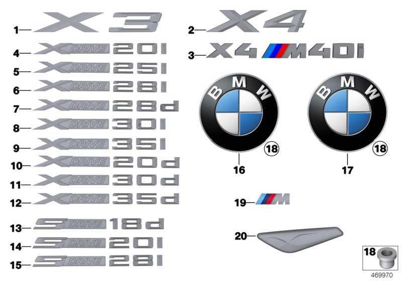 Schriftzug X4 M40I X4  (51148065078)