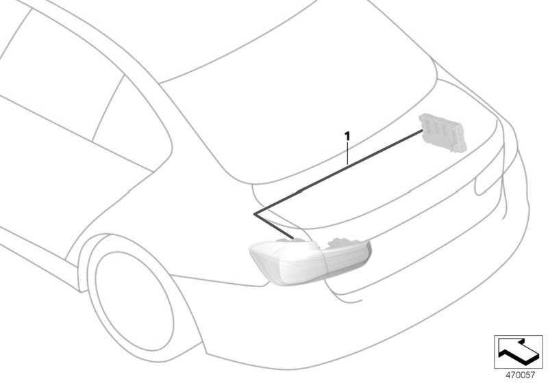 Nachrüstkabelsatz Faceliftleuchten  3er  (61122410220)