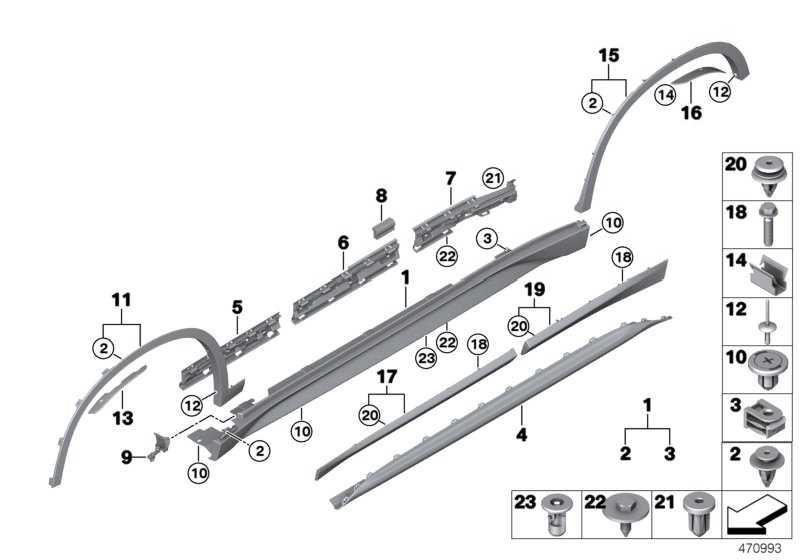 Schwellerverkleidung links LINES X1  (51777403399)