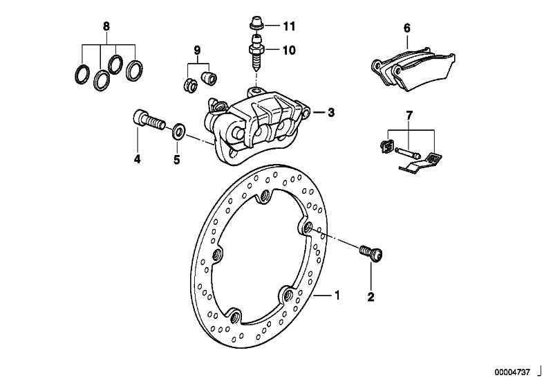 Bremssattel hinten D=26/28MM        (34212333165)