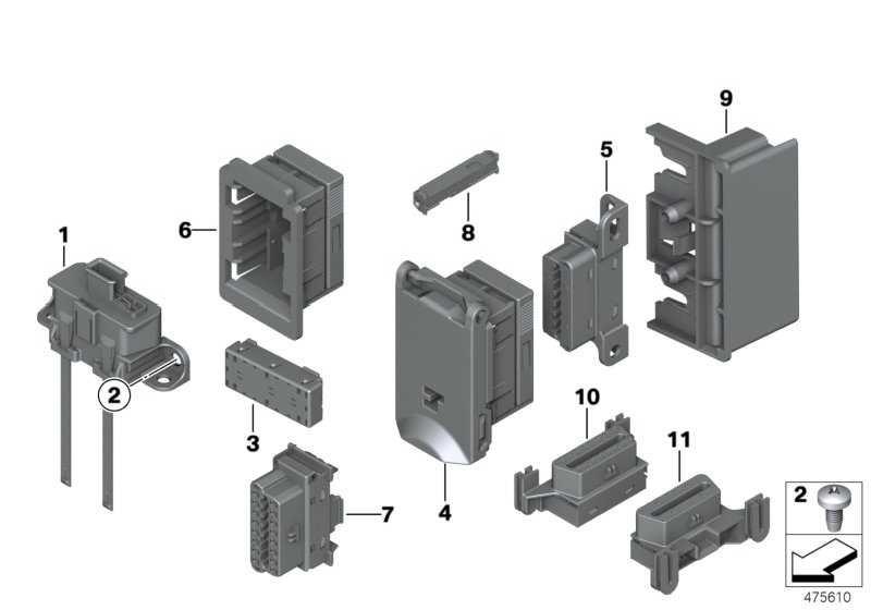 Deckel mit Rahmen OBD-Steckdose  3er 4er 5er 6er 7er X1 X3  (61136954582)