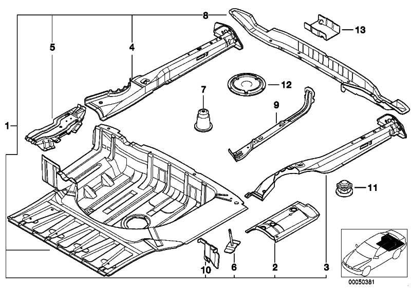 Gepäckraumboden BASIS           5er  (41128185092)
