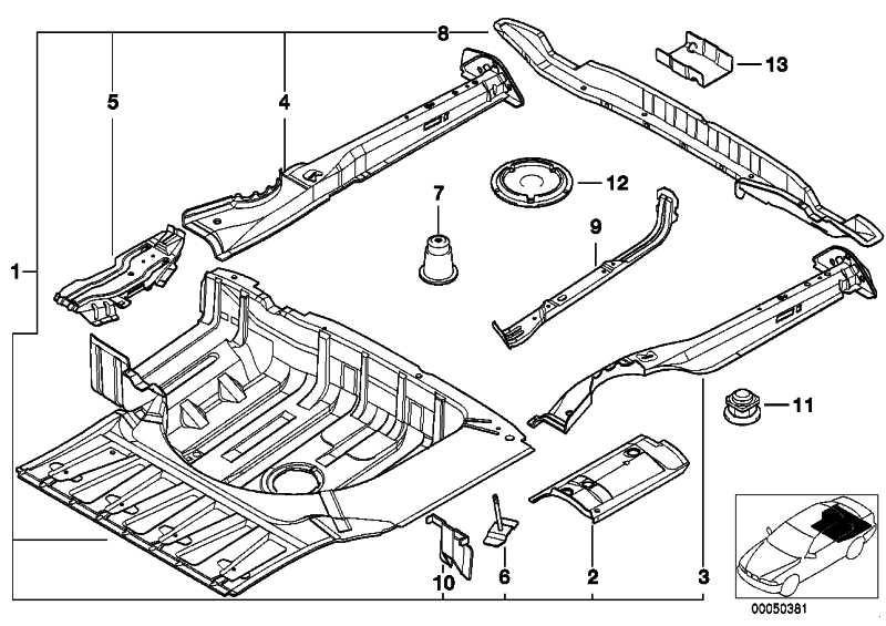 Querträger Gepäckraumboden hinten  5er  (41118171682)