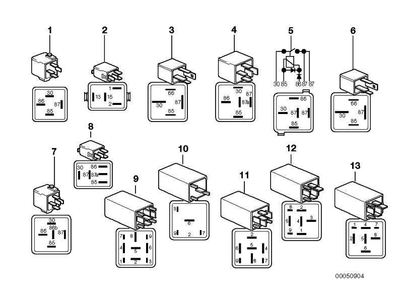 Relais Schliesser schwarz  1er 3er 5er 6er 7er X1 X3 X5 X6 Z4 MINI  (61366901469)