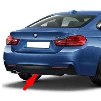 BMW M Diffusor zweiflutig für M Heckstoßstange 4er F32 F33 F36