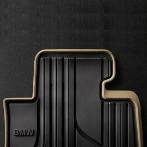BMW Allwetter-Fußmatten Modern Satz hinten schwarz/beige 1er F21 2er F22
