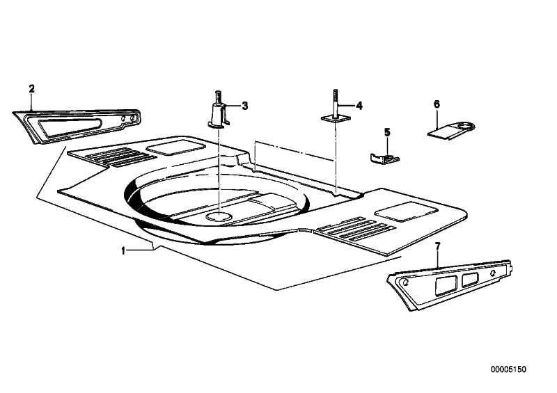 Gepäckraumboden BASIS           3er  (41121847432)