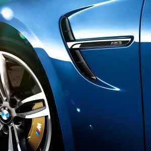 BMW M Performance Zierstäbe Seitenwand hochglanz schwarz M3 F80