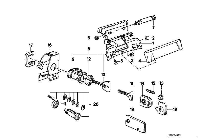 Reparatursatz Schliesszylinder Re.  3er  (51219061344)