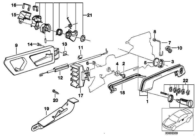 Reparatursatz Schliesszylinder Li.  5er 7er  (51218136235)
