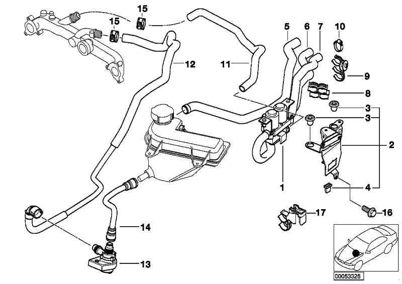 Schlauch Motorvorlauf-Wasserventil  X5  (64218409062)