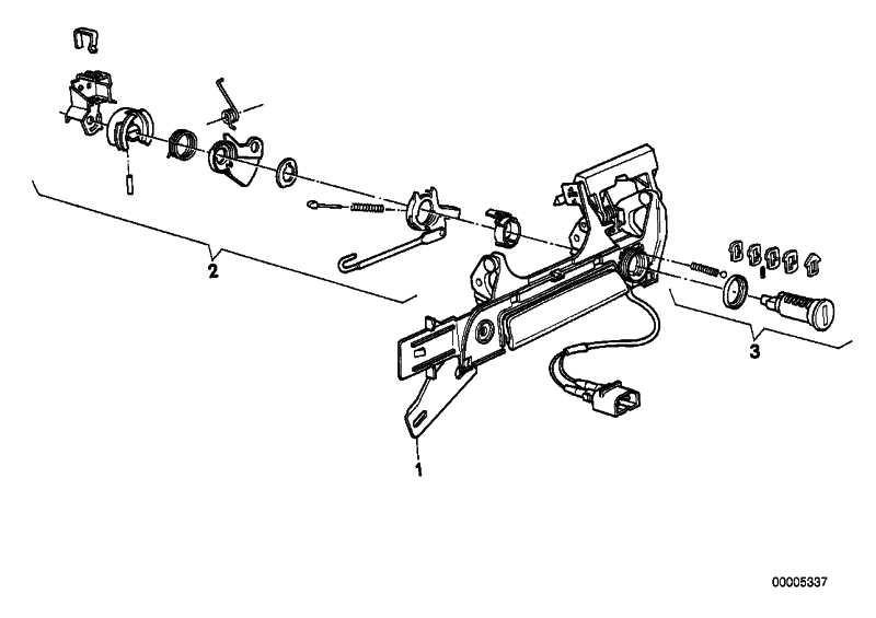 Reparatursatz Schliesszylinder Li.  3er 5er Z3  (51218203099)