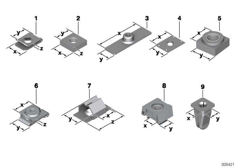Spreizmutter TS 4            1er 3er 5er 6er 7er 8er X1 X3 X5 X6 Z1 Z3 Z4 MINI  (51321960663)