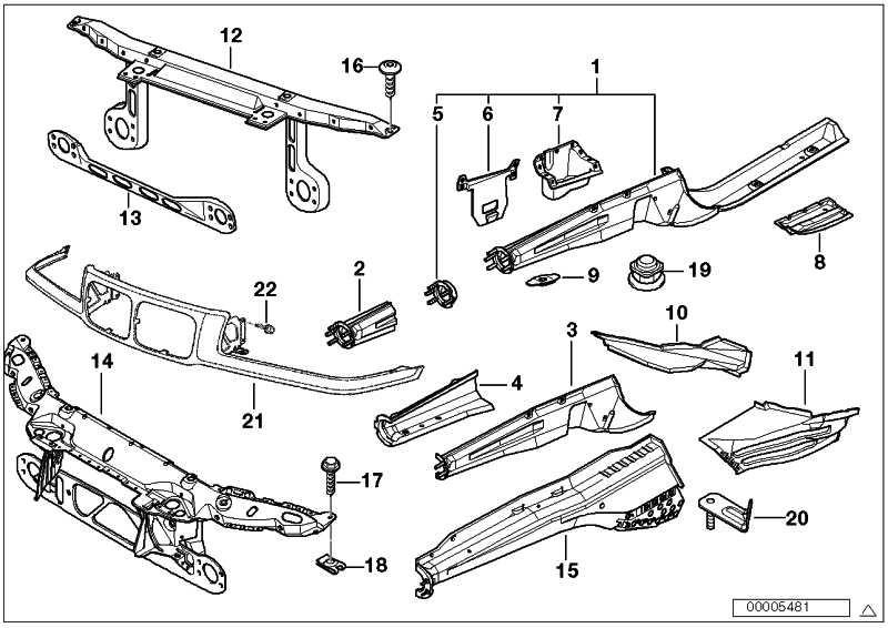 Teilabschnitt Motorträger links  3er  (41118122551)