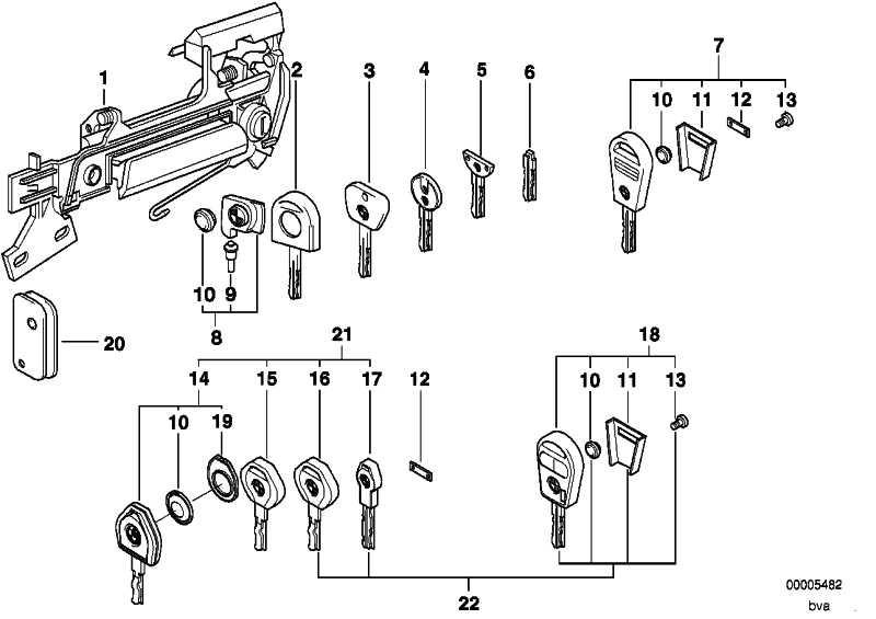 Generalschlüssel beleuchtet (Code)  3er 5er 7er Z3  (51218205311)