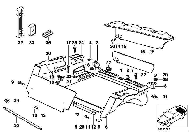 Gepäckraummatte mit Spannbändern  3er  (51478229142)