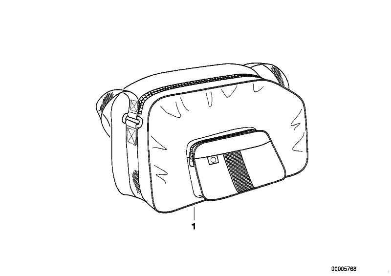 Innentasche für Satteltasche gross  259C  (72607671562)