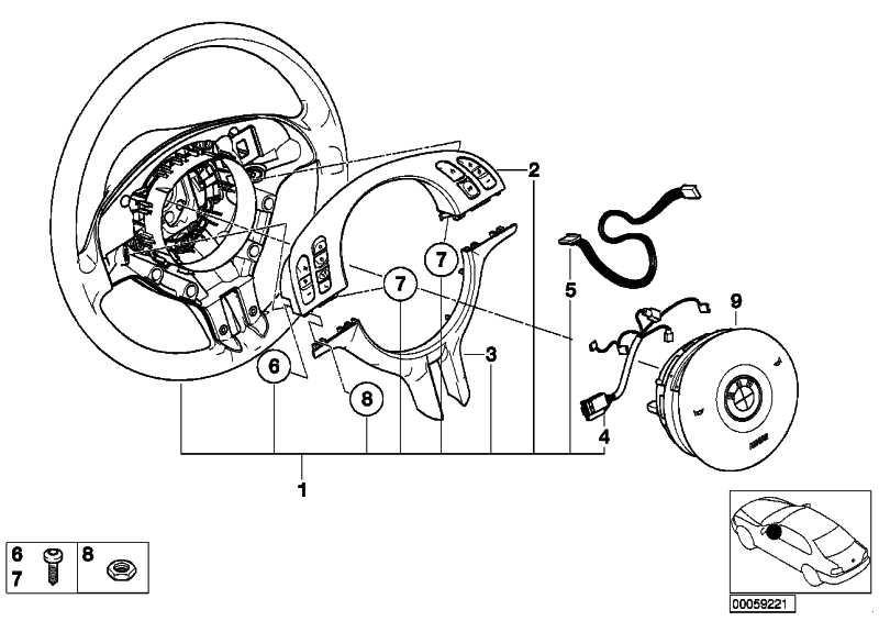Sportlenkrad Airbag Leder SCHWARZ         3er  (32306770417)
